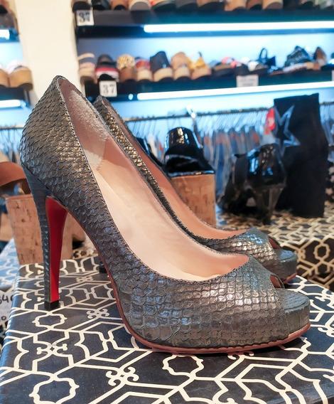 Zapatos Stilettos Paruolo Cuero Ùltimos Talle 36 Art 9256