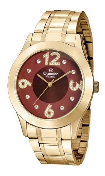 Relógio Feminino Dourado Champion Cn29178i