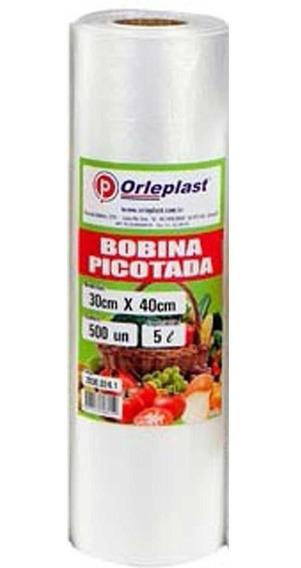 Kit Com 3 Bobinas 500 Sacos 30x40 5l Alimentos Freezer