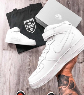 Nike Air Force High Blancas Negras Oferta