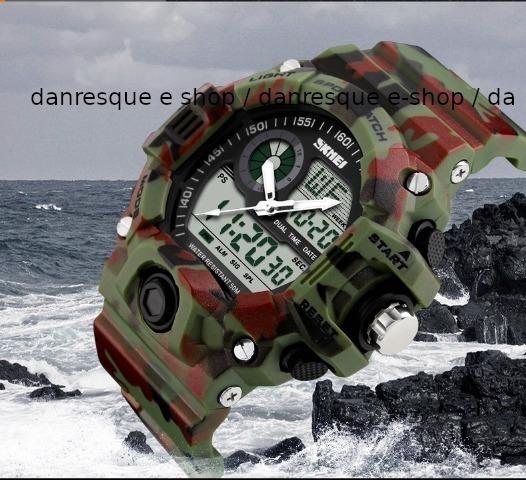 Relógio Skmei 1029 Camuflado S Shock Militar Resistente H2o