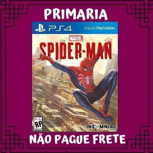 Marvel Spider Man Homem Aranha Ps4 Primário Garantia Eterna