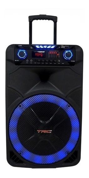 Caixa De Som Amplificada Multiuso Trc 515 Com Bluetooth, 500w, Bateria, Microfone Sem Fio