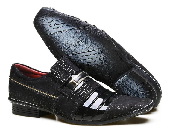 Sapato Masculino Social Calvest 1750c - Azul Escuro