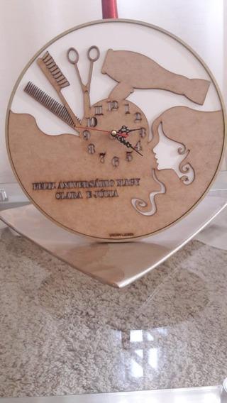 Relógio Personalizado, Cabeleireiro, Mdf