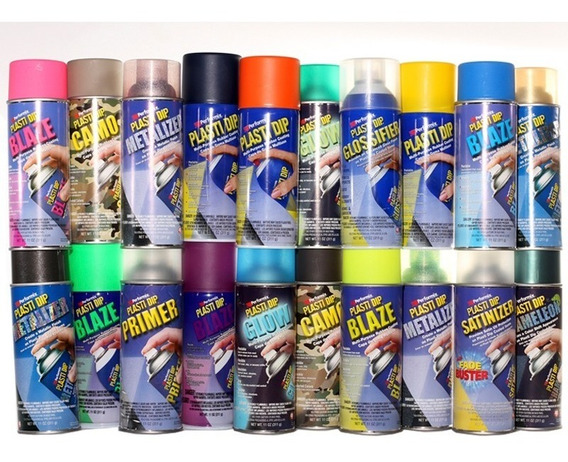 Pintura Removible Plastidip Aerosol Todos Los Colores Kit X4