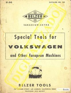 Belzer Tools Catalog - Ferramentas Volkswagen Ar Fusca Kombi