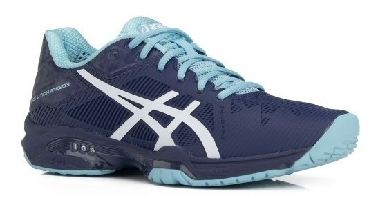 Tênis Asics Gel Solution Speed 3 Marinho Original +nf
