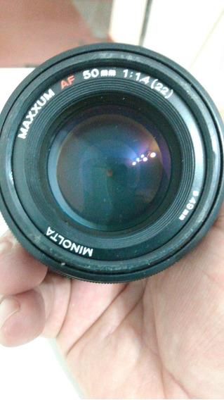 Lente Minolta/sony 50mm 1.4