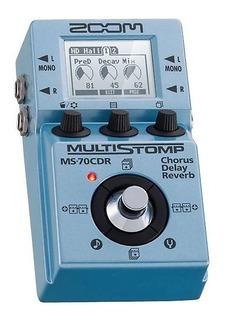 Zoom Multistomp Ms70cdr Pedalera Multiefectos Para Guitarra