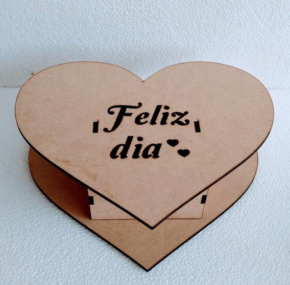 Caja Corazón Fibrofacil Día De Los Enamorados X 10 Un Candy