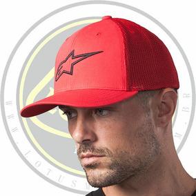 Boné Oficial Alpinestars Ageless Stretch Mesh Hat Vermelho
