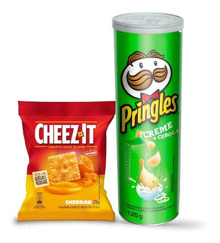 Kit Pringles Creme E Cebola 120g + Snack Cheez It Cheddar29g