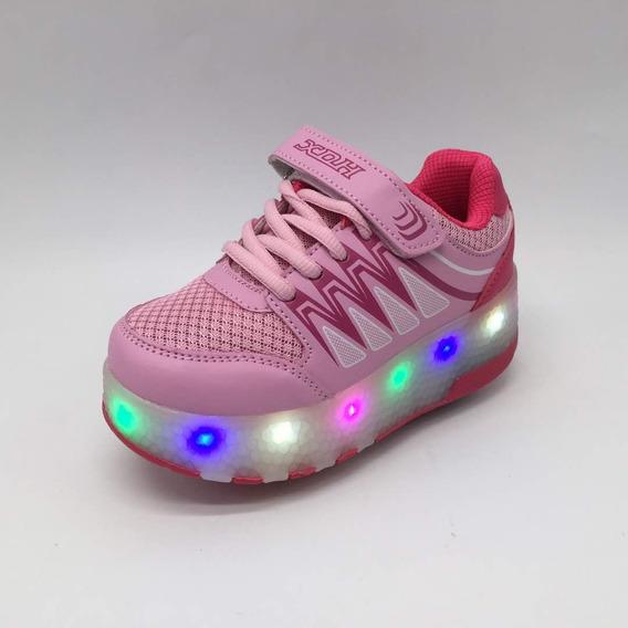 Zapatos Con Luces Led Y Ruedas Recargables