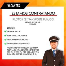 Trabajo Para Piloto De Buses