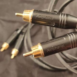 Cable Estereo Rca Rca Macho Ficha Amphenol Cable 2mts Profes