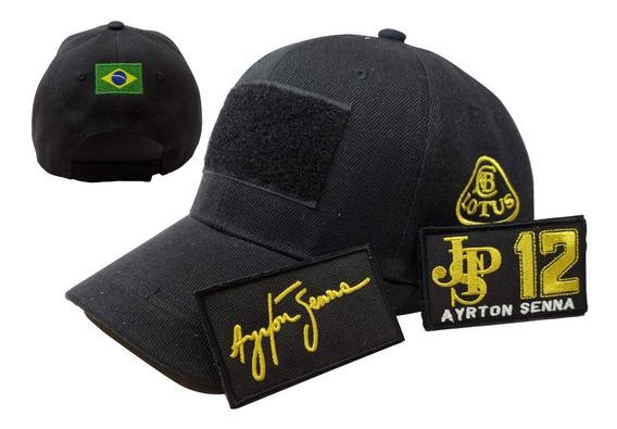 Gorra F1 Automovilismo Ayrton Senna Homenaje 2 Parches