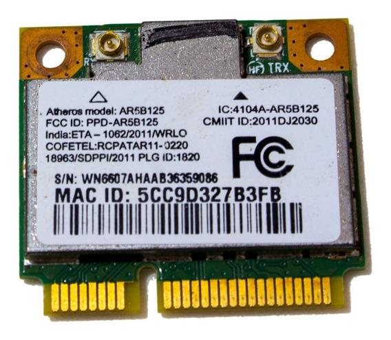 Placa Wifi Wireless Atheros Ar5b125 Para Notebook