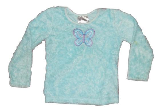 Knitworks Sueter Azul Peluchito Con Mariposa Talla 5 Niña