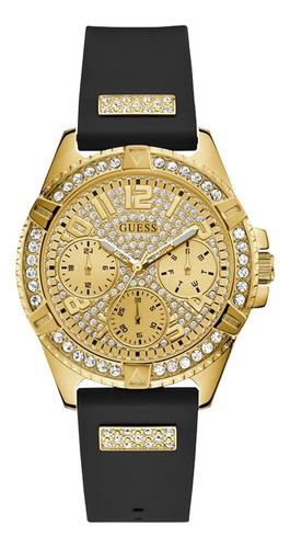 Reloj Para Mujer Guess Lady Frontier Color Negro W1160l1