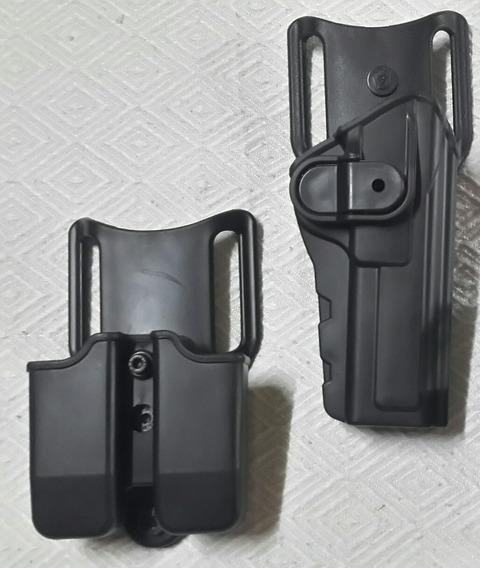 Kit Pistolera Browning Y Porta Cargador Doble Nivel 2