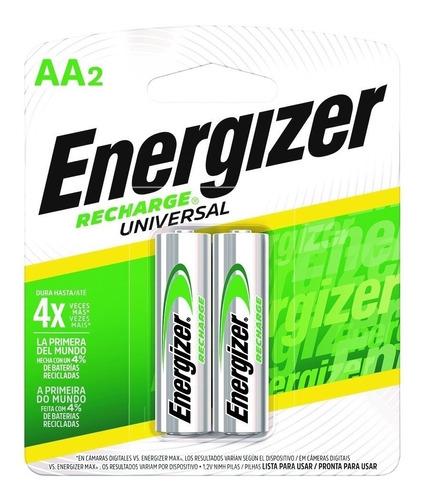Imagen 1 de 8 de 6 X Pilas Recargables Aa Energizer Nimh 2000 Mah San Martin