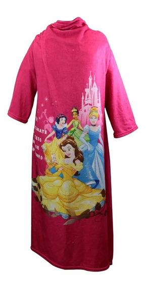 Cobertor Com Mangas Princesas Disney Rosa Netflix Desenho