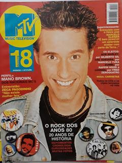Revista Mtv N. 18 Rock Anos 80, Dinho, Zeca Pagodinho