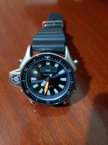 Relógio Masculino Atlantis A3220 - Aqualand Jp2000 Preto