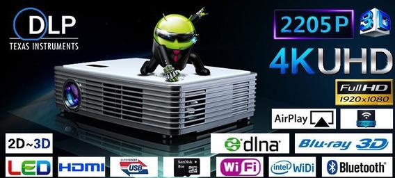 Projetor 3d 4k Uhd Wifi -pronta Entrega- Não É Mini Projetor