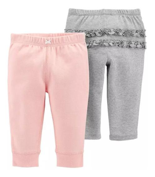 Pack De 2 Pantalones Para Bebés Niña Sin Cordones Carter