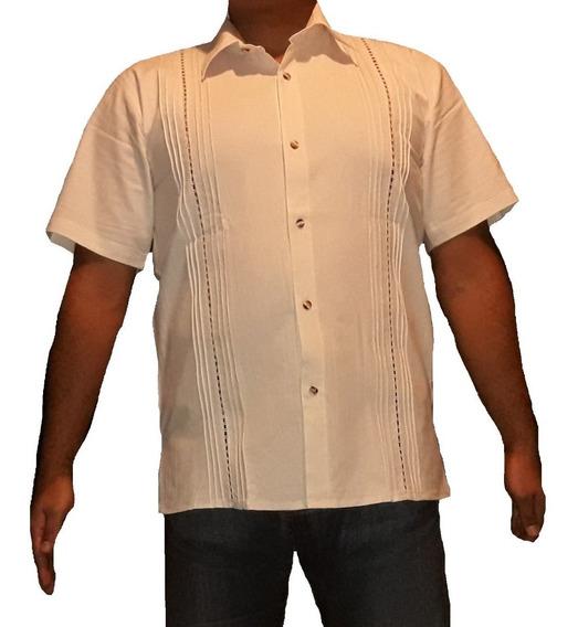 Guayabera Modelo Crochet Talla 44,46,48,50 Manta Prelavada