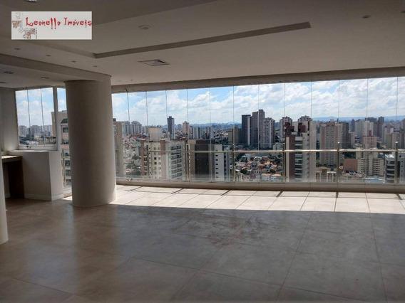 Cobertura Alto Padrão Mobiliada, 432 M², 3 Suítes Para Venda Ou Locação - Jardim - Santo André/sp - Ap0412