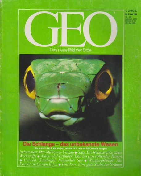 Revista Geo Nr. 6 Juni 1986 Germany
