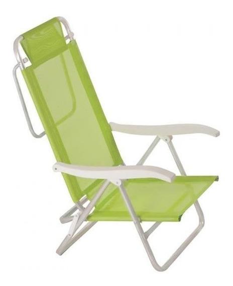 Cadeira Reclinavel De Praia Mor Sol De Verão Fashion Verde