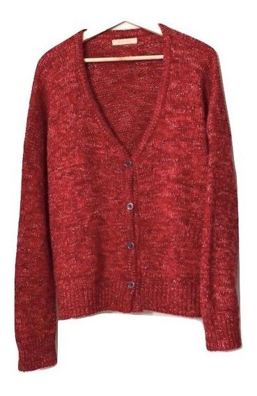 Saco Sweater Mujer Lana Kosiuko Tejido Rojo