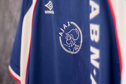 Ajax Hol 1998 Umbro Uniforme 3 Número 11 Tamanho Gg