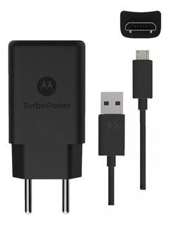 Carregador Motorola Moto G6 Play Turbo Power