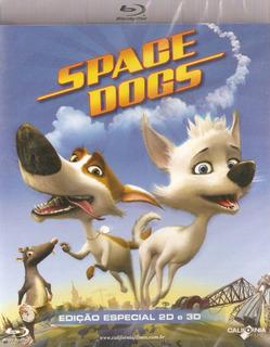 Blu-ray Space Dogs - Edição Especial 2d E 3d - Novo Lacrado*