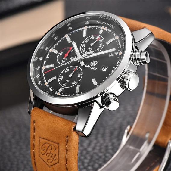 Relógio Masculino Militar Original De Luxo Quartzo