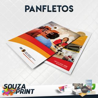 1.000 Panfletos 10x15cm Colorido Frente