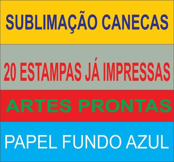 Estampas Prontas Já Impressas Sublimação Canecas 20 Estampas