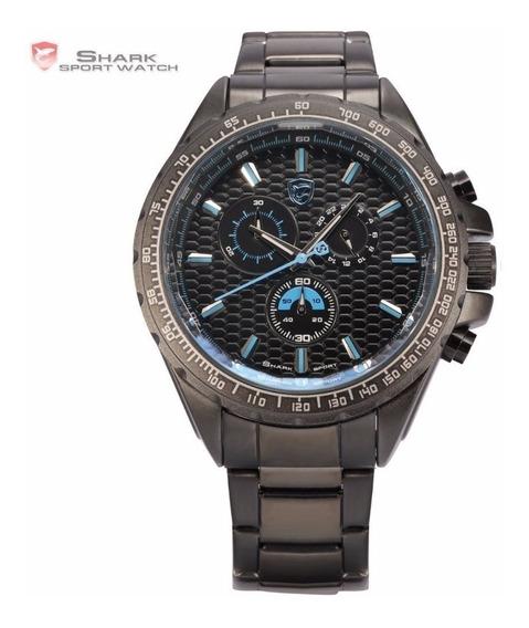Reloj Original Shark Sh189 Correa Metal 3atm Impormel