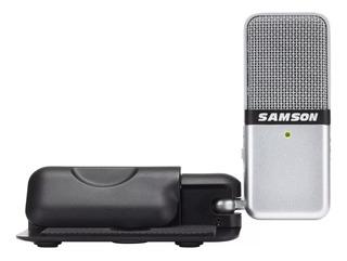 Micrófono Samson Go Mic cardioide, omnidireccional plata