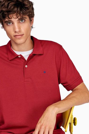 Camisa Purificación García Tipo Polo Roja