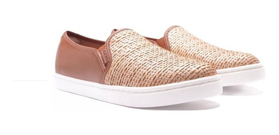 Tênis Anacapri Slip On Palha Natural
