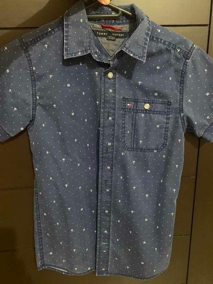 Camisa De Niño Tommy Hilfiger Talla12/14Original