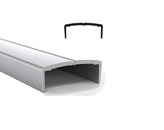 Tapacanto Aluminio U Curvo Anodizado 3mt 18mm -herrajes Tuyu