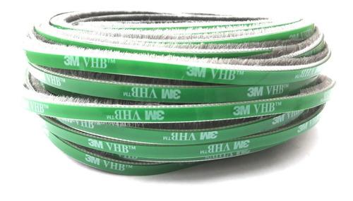 Escova De Vedação C/ Adesiva Vhb 5x7mm- 10 Mts