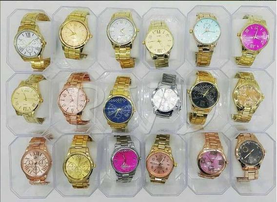 Kit Com 5 Relógios Feminino Atacado + Caixas